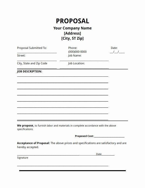 Simple Rfp Template Word Awesome Free Proposal Template
