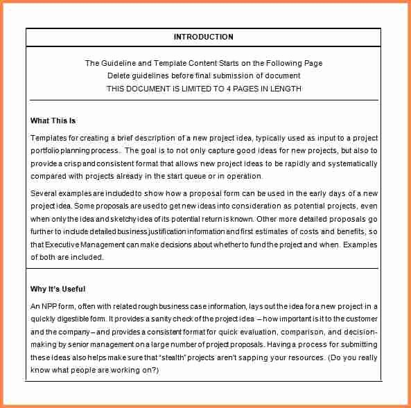 Simple Rfp Template Word Beautiful 3 Simple Project Proposal Ideas