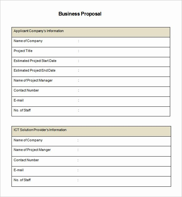 Simple Rfp Template Word Fresh 32 Business Proposal Templates Doc Pdf