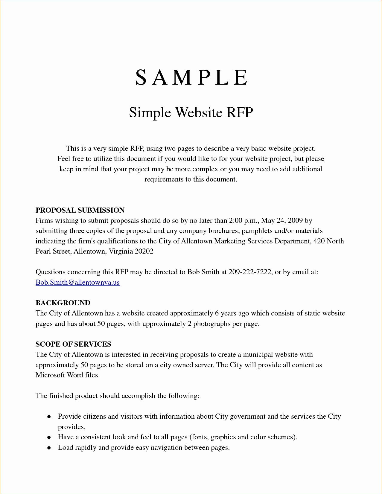 Simple Rfp Template Word Fresh Simple Proposal Template Business Proposal Templated