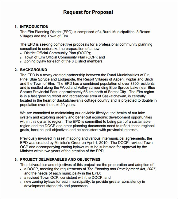 Simple Rfp Template Word Inspirational 9 Rfp Templates for Free Download