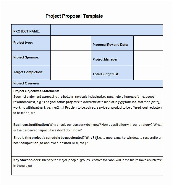 Simple Rfp Template Word Luxury 20 Free Project Proposal Template Ms Word Pdf Docx