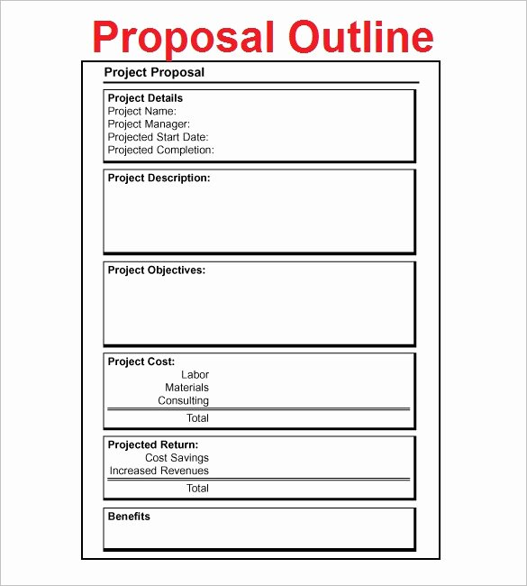 Simple Rfp Template Word Unique Proposal Outline Templates 20 Free Free Word Pdf