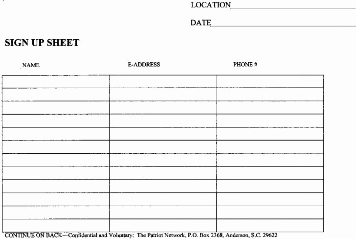 Simple Sign Up Sheet Template Fresh Sign Up Sheets Resume Trakore Document Templates