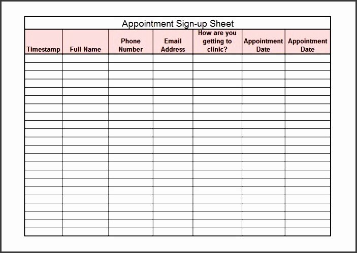 Simple Sign Up Sheet Template Luxury 6 Sign Up Sheet Template Free Cost Sampletemplatess