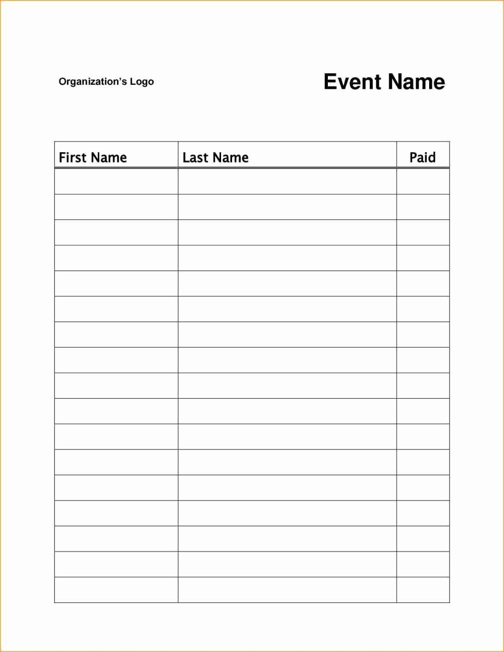 Simple Sign Up Sheet Template Luxury event or Class Workshop forms A Sign Up Sheet Template