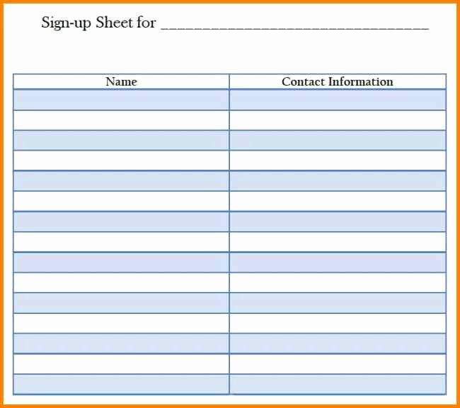 Simple Sign Up Sheet Template New Blank Sign Up Sheets Blank Sign Up Sheet Sheets Basic