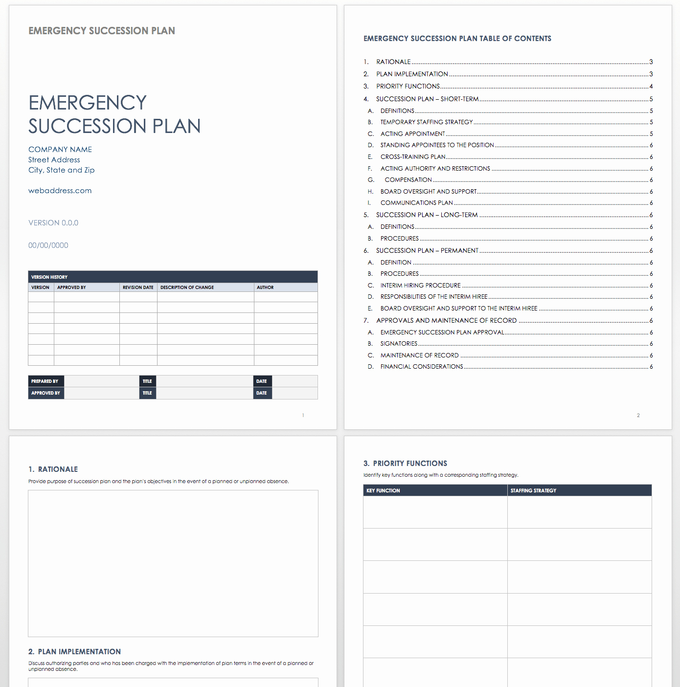 Simple Succession Plan Template Best Of Free Succession Planning Templates