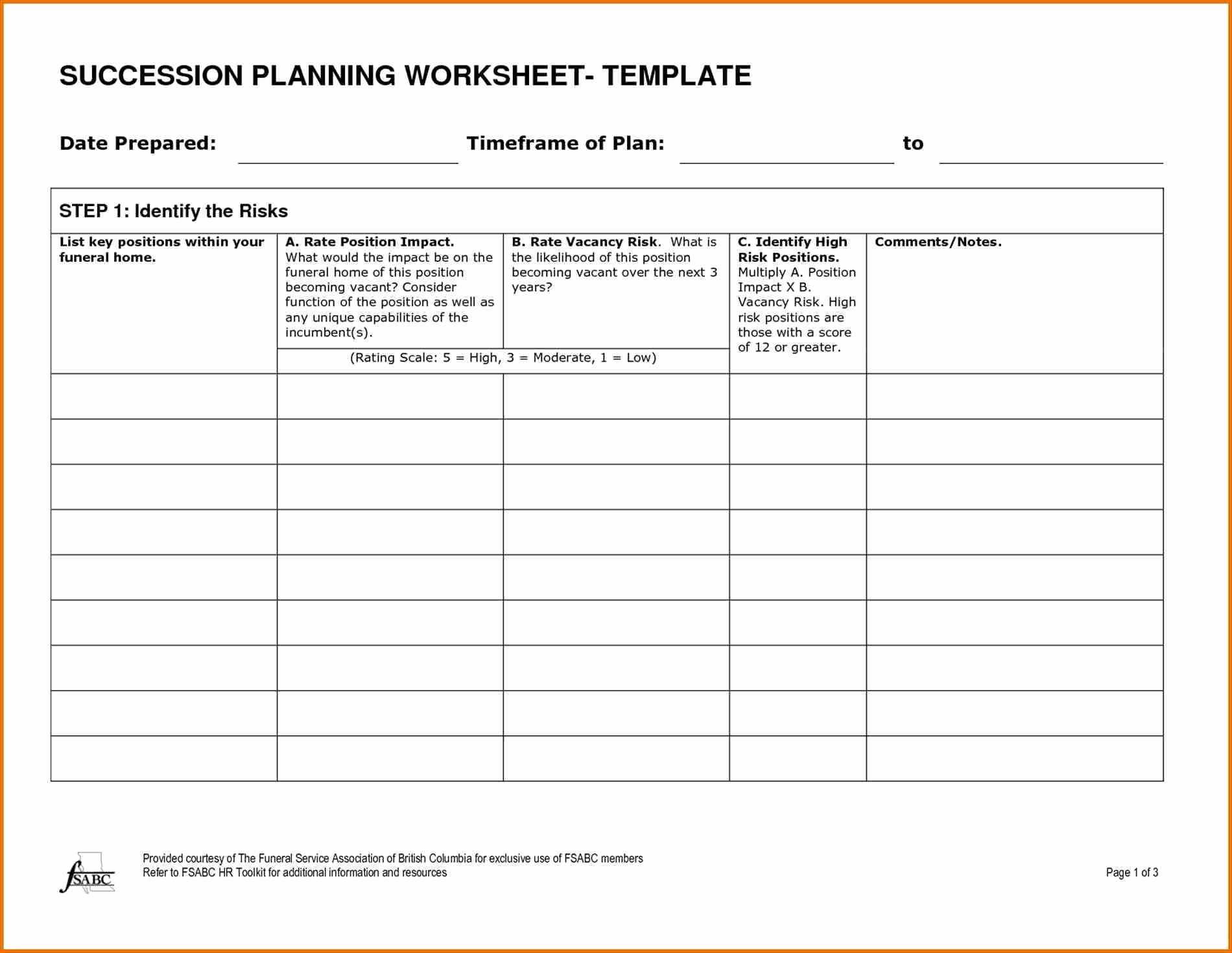 Simple Succession Plan Template Fresh Bank Management Succession Plan Template Templates