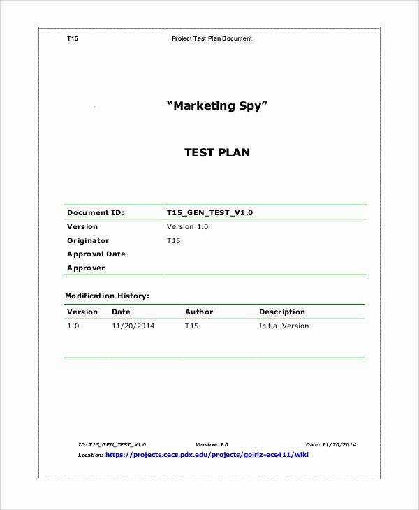 Simple Test Plan Template Best Of 13 Simple Test Plan Templates Pdf Word