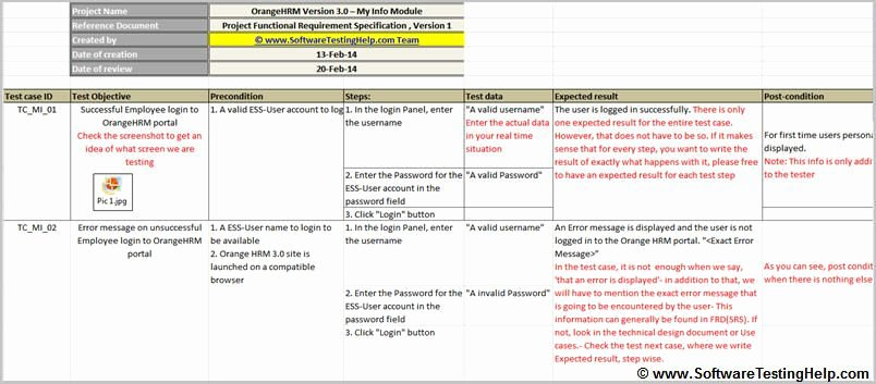 Simple Test Plan Template Elegant Test Case Sample Simple Test Case with Precondition and