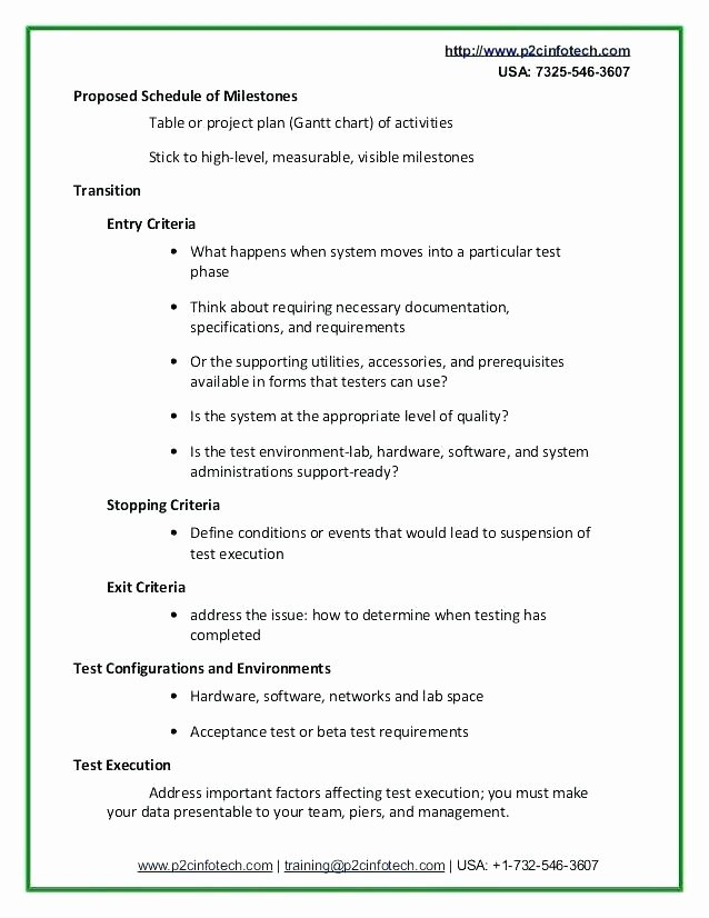 Simple Test Plan Template Unique Basic Test Plan Template Simple Test Plan Template