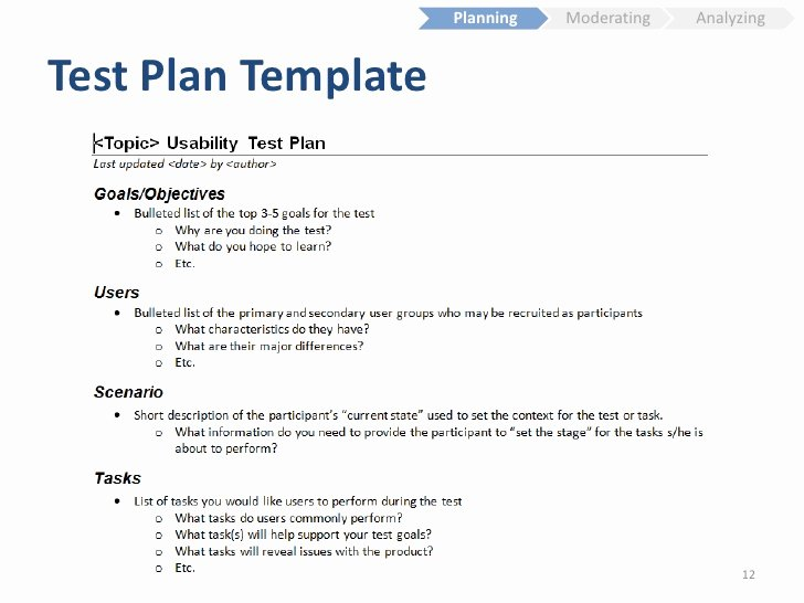 Simple Test Plan Template Unique Usability Testing Fundamentals