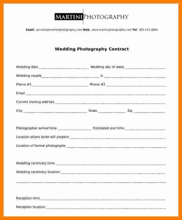 Simple Wedding Photography Contract Template Best Of 8 9 Wedding Photographer Contract Template