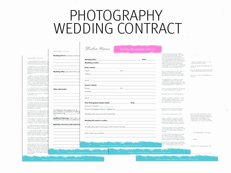 Simple Wedding Photography Contract Template Elegant Template Simple Wedding Grapher Contract Template