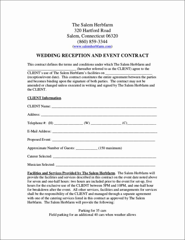 Simple Wedding Photography Contract Template Fresh 14 Wedding Contract Samples Word Pdf Google Docs