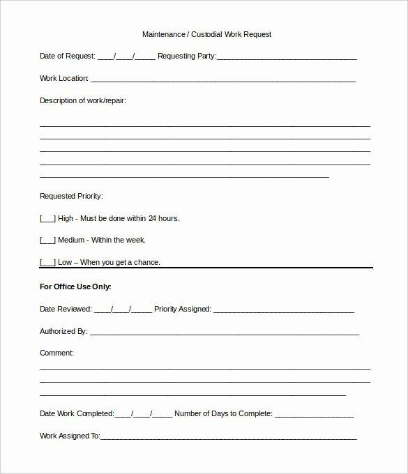 Simple Work order Template Elegant Work order Template 13 Free Word Excel Pdf Document