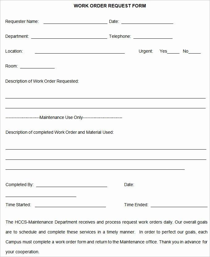 Simple Work order Template Fresh Work order Template – 20 Free Word Excel Pdf Document