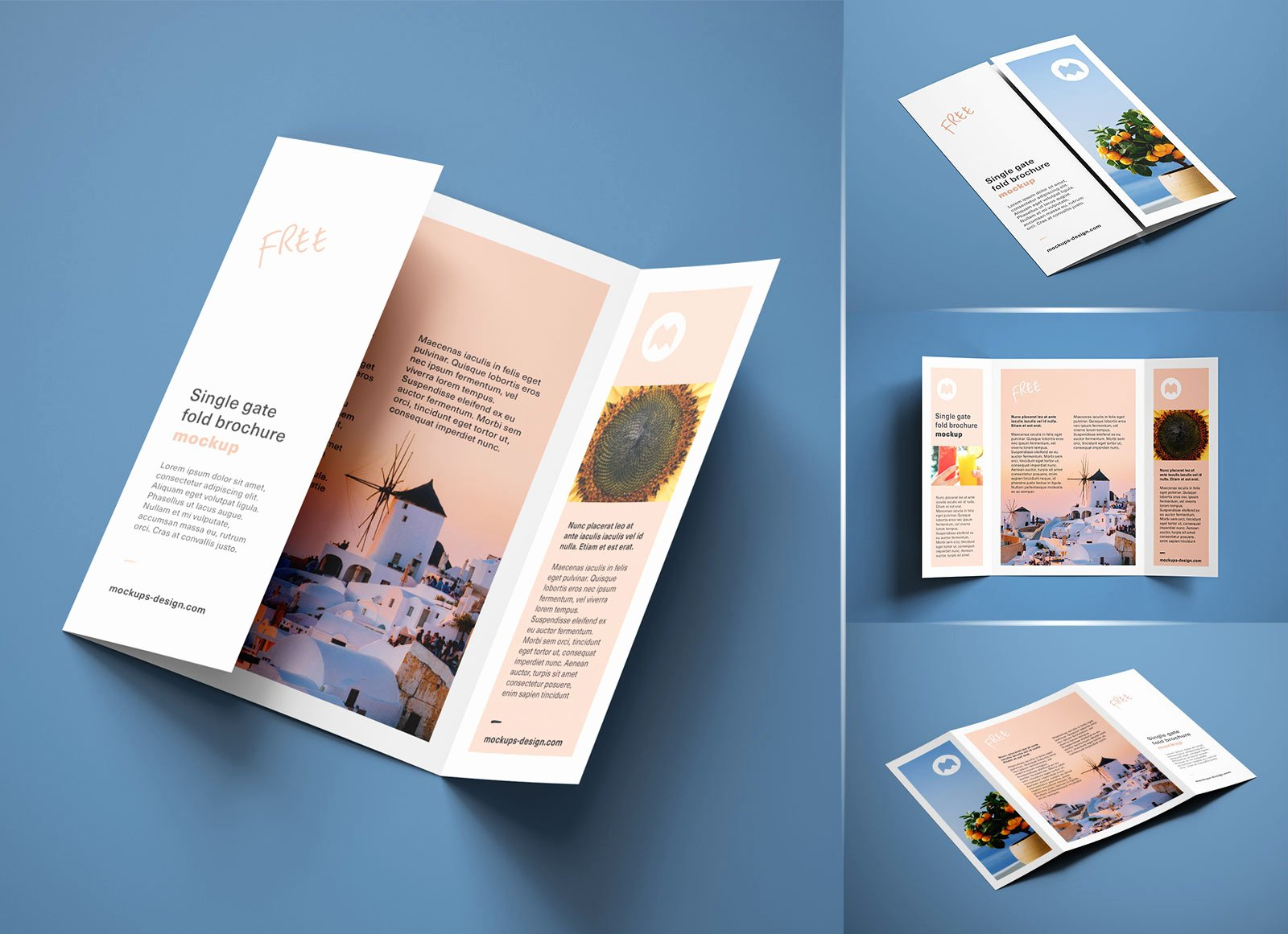 Single Fold Brochure Template Awesome Free A4 Single Gate Fold Brochure Mockup Psd Set Good