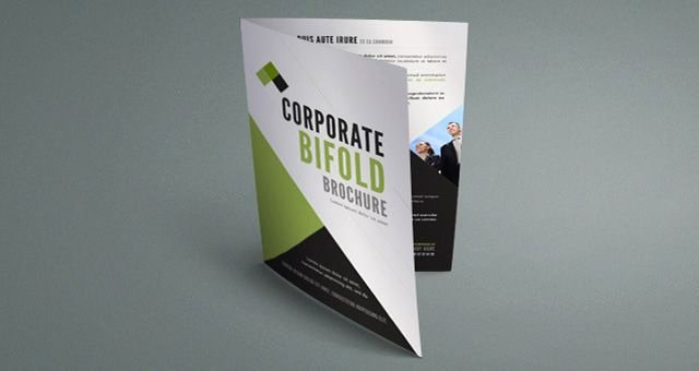 Single Fold Brochure Template Elegant Single Panel Brochure Template Corporate Bi Fold Brochure