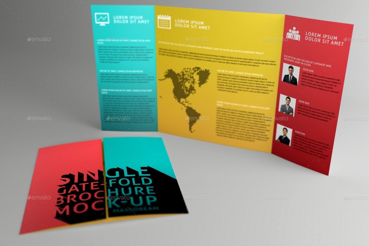 Single Fold Brochure Template Fresh Gatefold Brochure Mock Up by Massdream