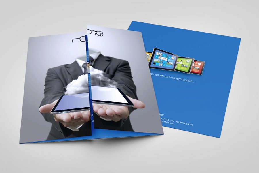 Single Fold Brochure Template Fresh Metro Single Gate Fold Flyer