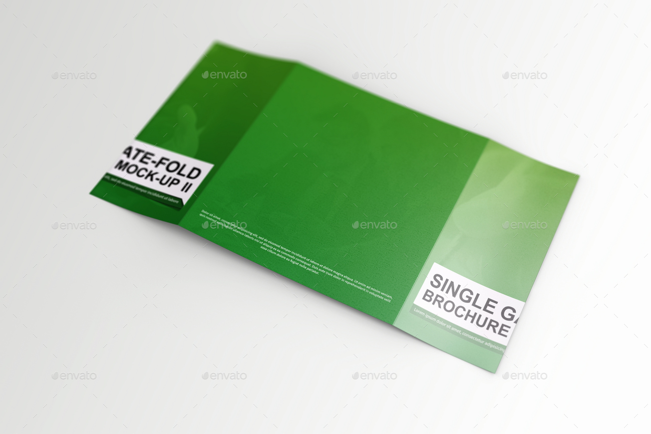 Single Fold Brochure Template Inspirational Single Gate Fold Brochure Mock Up 2 by Massdream