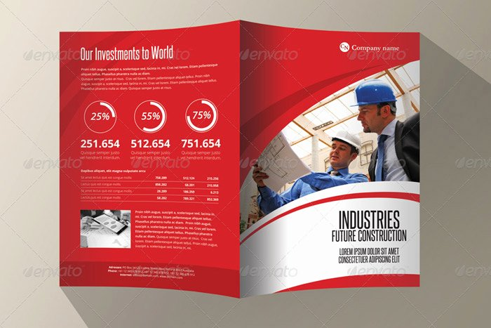 Single Fold Brochure Template Lovely Single Fold Brochure Template 20 Corporate Bi Fold