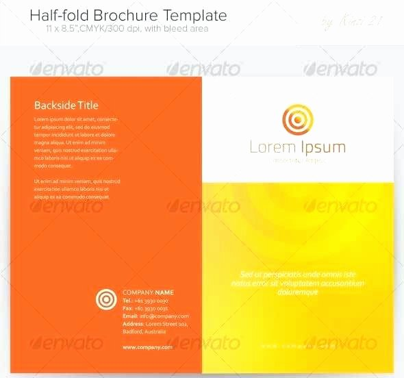 Single Fold Brochure Template Luxury Bi Fold Template Brochure Design Templates Vector Download