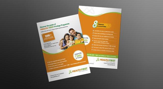 Single Page Brochure Template Best Of Single Page Brochure Design for Health Care Privilege Program