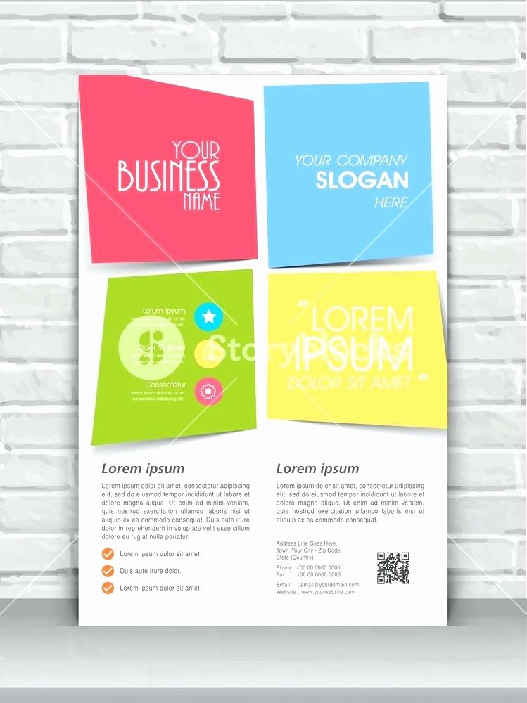 Single Page Brochure Template Inspirational One Page Pamphlet Template – Lamdep