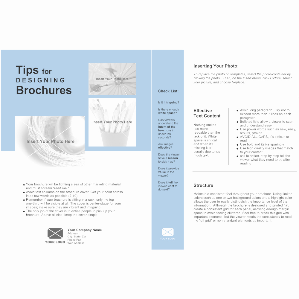 Single Page Brochure Template Lovely Single Page Brochure
