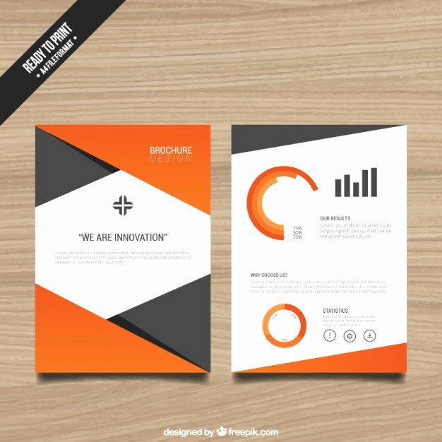 Single Page Brochure Template Unique Brochure Template with orange Elements Vector