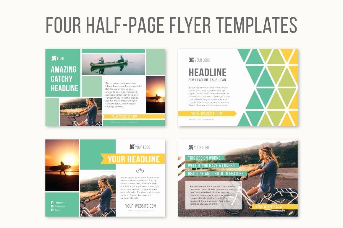 Single Page Brochure Template Unique Four Half Page Flyer Templates Templates Creative Market