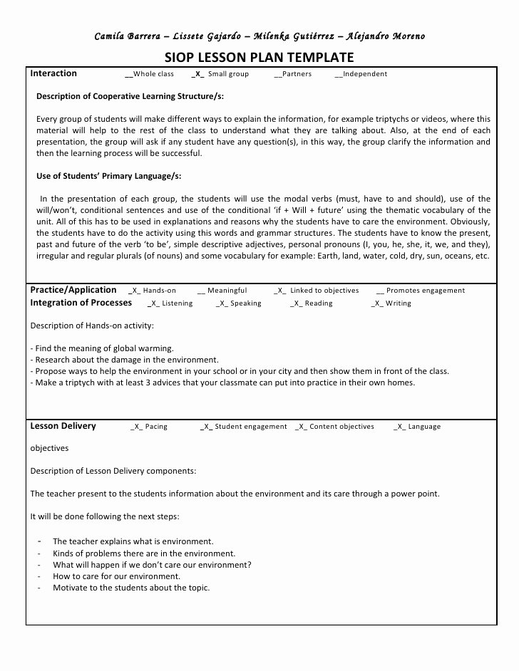 Siop Lesson Plan Template 3 Best Of Example 5e Lesson Plan for Math 5e Math Go