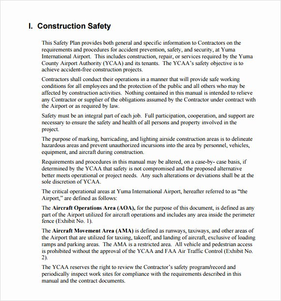 Site Safety Plan Template Inspirational 11 Safety Plan Templates – Free Samples Examples & format