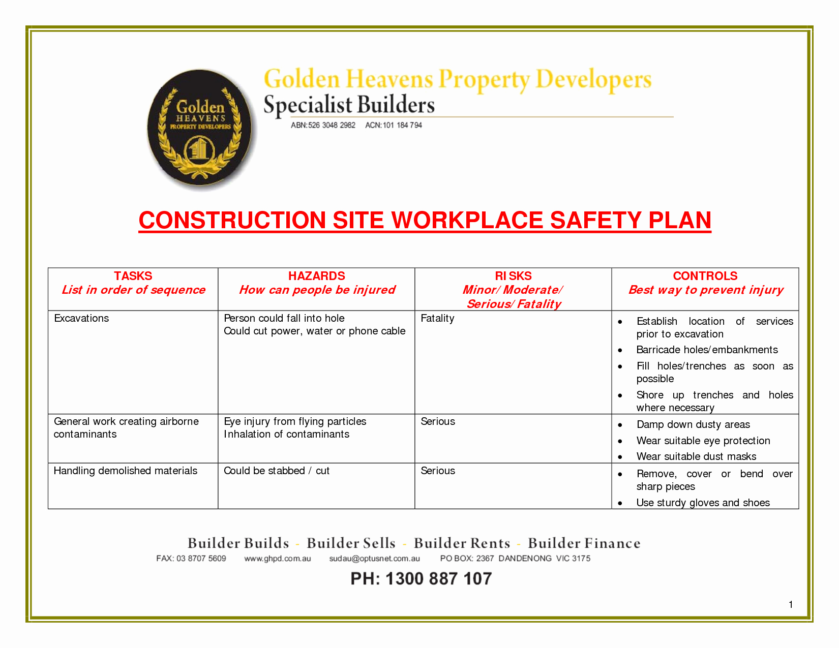 Site Safety Plan Template New 24 Of Site Safety Plan Template