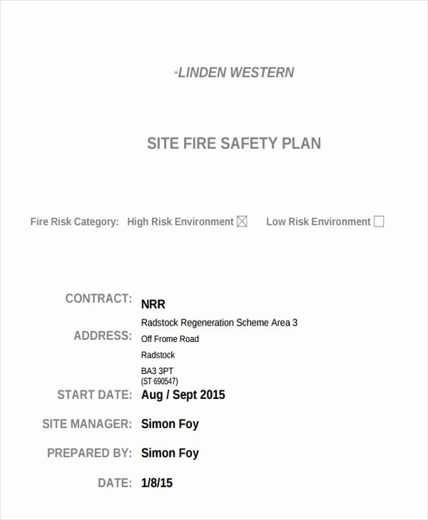 Site Safety Plan Template New 29 Safety Plan Samples