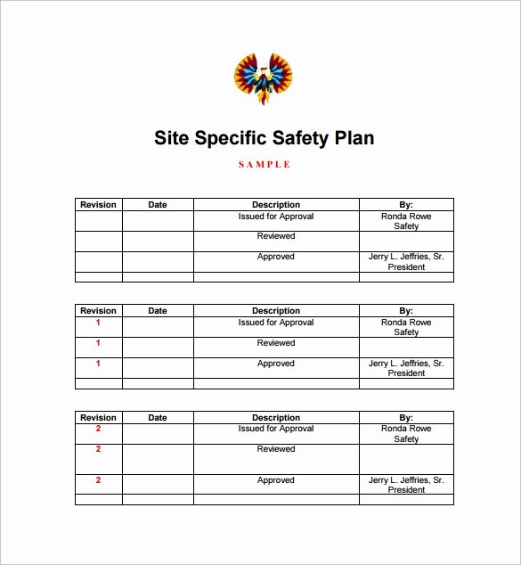 Site Safety Plan Template Unique Sample Safety Plan Template 12 Free Samples Examples
