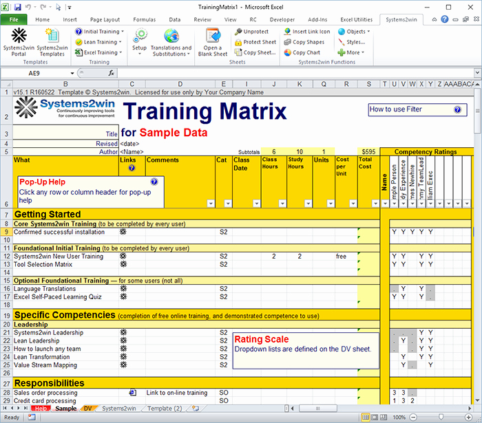 Skills Matrix Template Excel Fresh Matrix Workout Chart