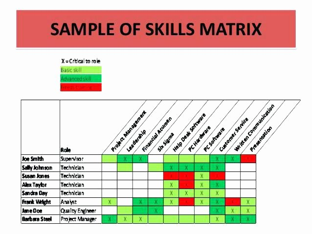 Skills Matrix Template Excel Lovely Skills Matrix Template Excel Training Skill format