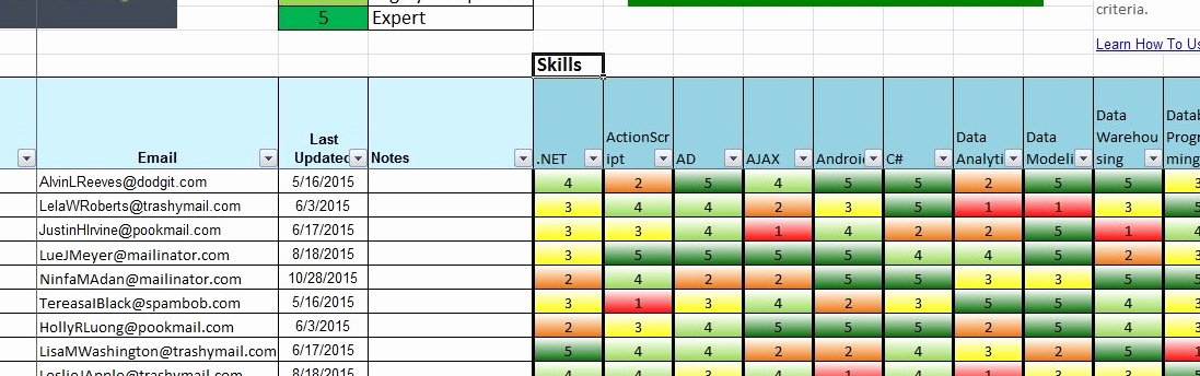 Skills Matrix Template Excel Luxury Skills Db Pro Free Skills Matrix Spreads