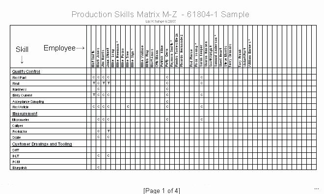 Skills Matrix Template Excel Luxury Skills Matrix Template Excel Best S Training