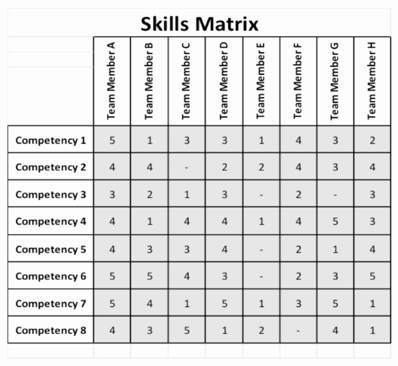 Skills Matrix Template Excel Unique Skill Matrix Template Free Download Aashe