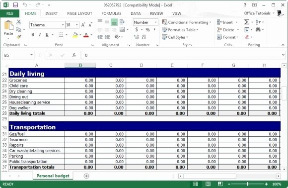 Small Business Budget Template Luxury Personal Bud Template for Excel Free Small Business