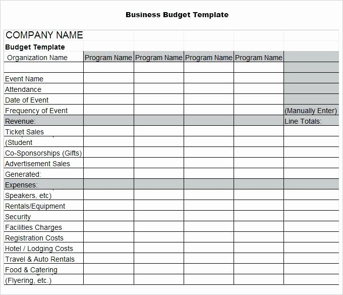 Small Business Budget Template Luxury Small Business Bud Template Pany Templates