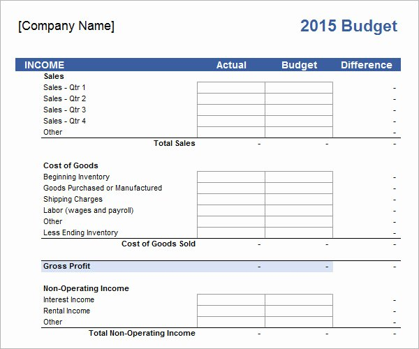 Small Business Budget Template Unique 10 Sample Business Bud Templates