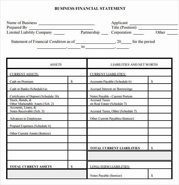 Small Business Financial Statement Template Fresh 7 Sample Financial Summary – Pdf Doc