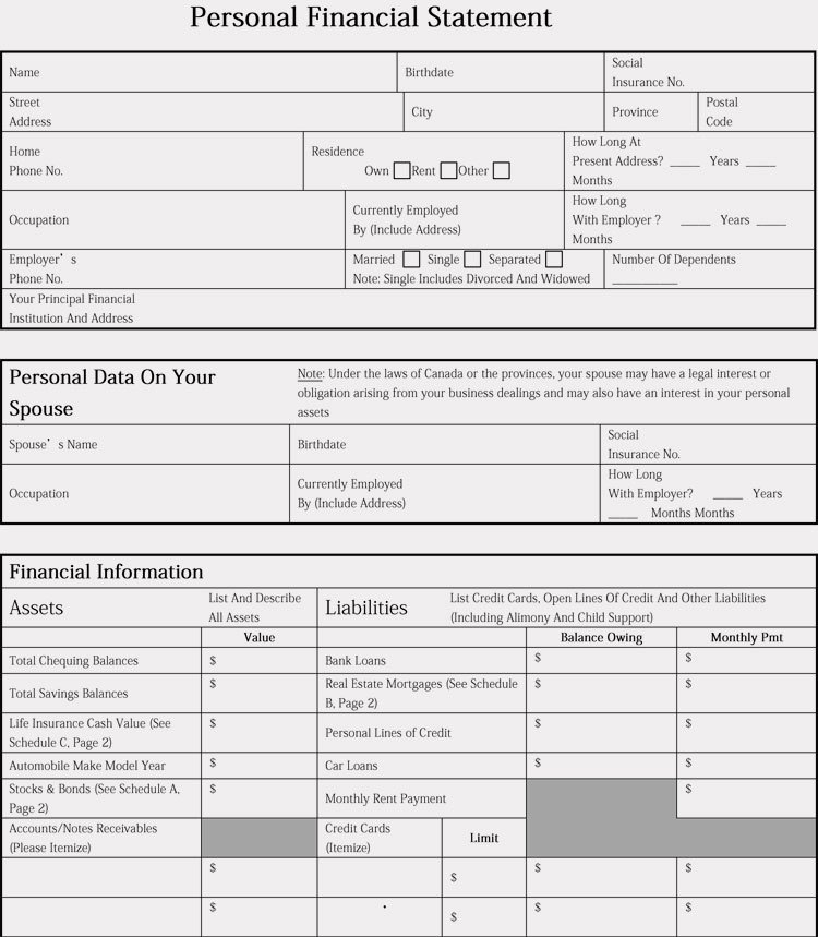 Small Business Financial Statement Template Fresh Financial Statement Templates for Small Businesses 8
