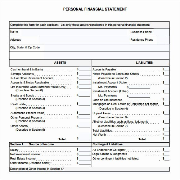 Small Business Financial Statement Template Luxury 8 Financial Statement Samples Examples Templates